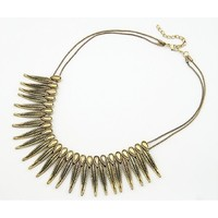 Отзыв на  Ожерелье Buyincoins Retro Style Rock Punk Feather Shape Spike Rivets Fringe Tassel Chain Necklace
