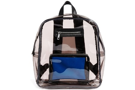 Main clear backpack with internal coin purse