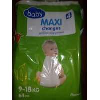Подгузники Baby Maxi changes Auchan