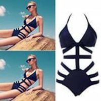 Отзыв на Купальник AliExpress Brand Victoria Swimwear For Women,High Waist Swimsuit Bikinis,Sexy Monokini Bathing Suit, Womens Bandage Swimsuit Black Swimwea