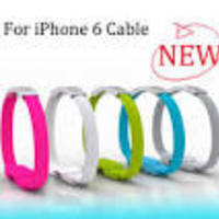 Отзыв на  Зарядное устройство Aliexpress Браслет Fashion USB 2.0 Charger cable for iphone 5S iphone 6 iPad5 iPad mini Fashion Wrist Cable Bracelet Data Cable 22CM 8 PIN OEM D002