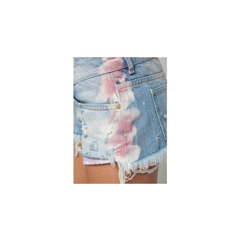 Отзыв на шорты Mini short BERSHKA tie dye rose