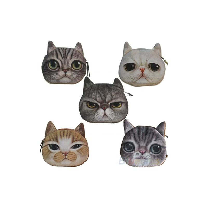 Отзыв на Кошелек Aliexpress 2014 New Children Cute Cat Face Zipper Kids Coin Purse Purse Pouch Women Coin Bags