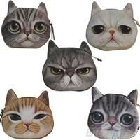 Review new cute cat face zipper case coin purse wallet makeup buggy bag pouch 01hu