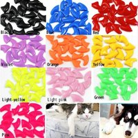 Review 2013 new 20pcs soft nail caps for cat paw pet claws with free super adhesive glue