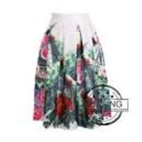 Отзыв на Юбка AliExpress New 2014 Autumn Winter Vintage Peach Blossom Floral Print Ball Gown Pleated Midi Skater Skirt Saia For Women Girl 148012