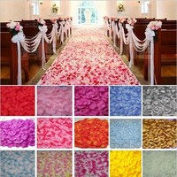 Review 2000pcs wedding decorations artificial false polyester rose petals wedding petal flowers 40 colors