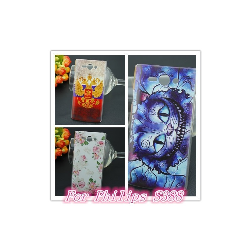 Отзыв на Бампер для смартфона Aliexpress Color painting Design Cell Phones Hard Case For Philips S388