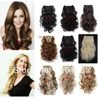 Отзыв на Аксессуары для волос Aliexpress Пряди на заколках Hair Extension Wavy Synthetic Hair extension Curly Hair Extensions curly hair styling