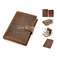 Отзыв на Бумажник Aliexpress Vintage Genuine Real Leather Retro Bifold Wallet Crocodile Alligator Coin Bag Purse Passport Card Holder ID Photo Men Women Case
