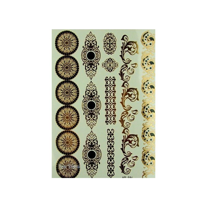 Отзыв на Тату декорация для тела Aliexpress Styles Metallic Temporary Tattoos