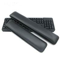 Review new ergonomical leather keyboard rest wrist pad mat raised platform hands comfort cushion support for pc