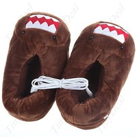 Отзыв на USB тапочки Aliexpress USB Powered 43'C Heated Feet Warmer Slippers Comfortable Shoes