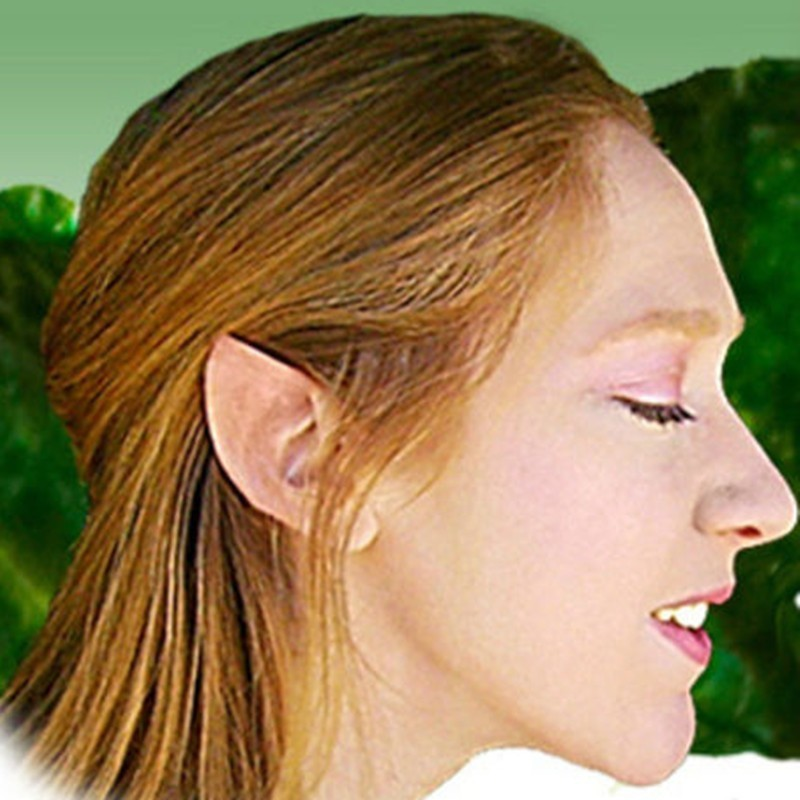 Отзыв на Уши эльфа Aliexpress Latex fairy pixie elf ears cosplay accessories LARP Halloween party well, I have a soft latex prosthetic ear tips T1217 P12