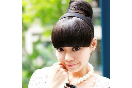 Main cosplay style women s clip on bangs fringe wigs hair wig band headband hairpiece free shipping