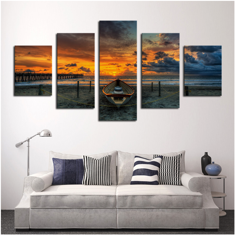 Отзыв на модульную картину 5 Pcs Large HD Seaview With ShipTop-rated Canvas Print Painting for Living Room Wall Art Picture Gift Decoration Home Picture