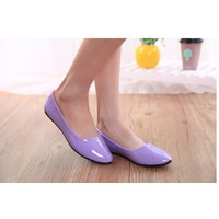 Отзыв на Балетки Aliexpress 2014 Fashion Purity Patent Women shoes for Lady flat shoes & black ,white,pink,orange