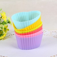 Отзыв на Силиконовая форма для выпечки AliExpress 12PCS Silicone Muffin Cases Cake Cupcake Liner Baking Mold Round shape B070