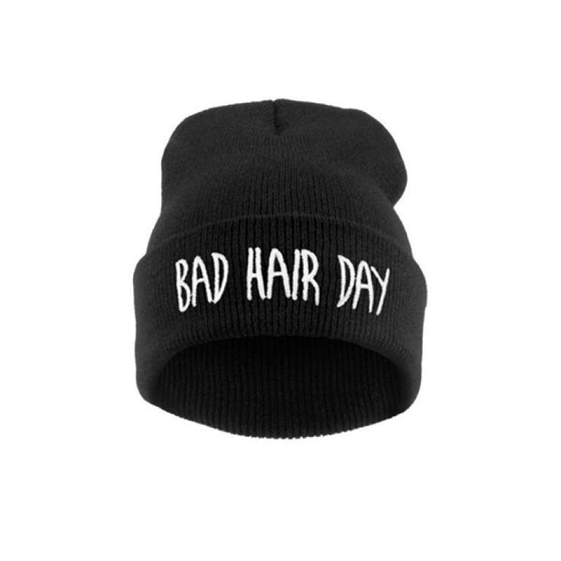 Отзыв на Шапка AliExpress Sport Winter Bad Hair Day Beanie Cap Fashion Women Cotton Blend Beanie Knitted Winter Hiphop Hats Caps RD671503