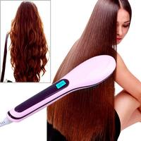Review professional hair straightener comb brush lcd display electric heating font b iron b font a hair