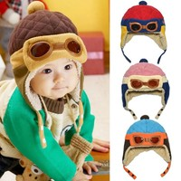 Отзыв на Шапка AliExpress Cool Toddlers Baby Cap Hat Beanie Boy Girl Kids Infant Winter Pilot Aviator Warm For