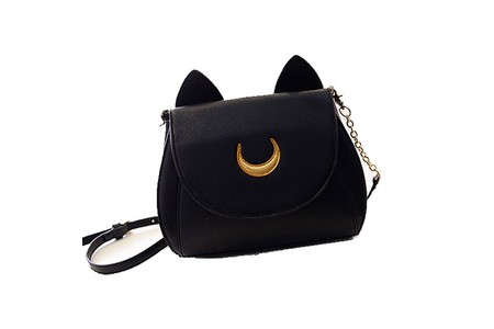 Main 2015 black font b white b font cat luna moon crossbody women messenger font b bag