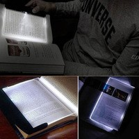 Отзыв на Подсветка для книг Aliexpress New Magic Night Vision Light LED Reading Book Flat Plate Portable Car Travel Panel oSuwyt