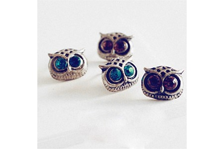 Main korean small jewelry wholesale font b trade b font fine european and american vintage owl earrings