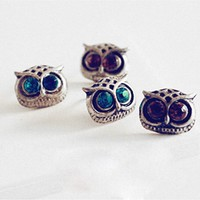 Отзыв на Серьги Aliexpress сова Fashion women's Stud Earrings Cute Love Pets Akarma