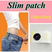 Review free shipping 10pcs in a lot slim navel stick slim patch magnetic weight loss burning fat
