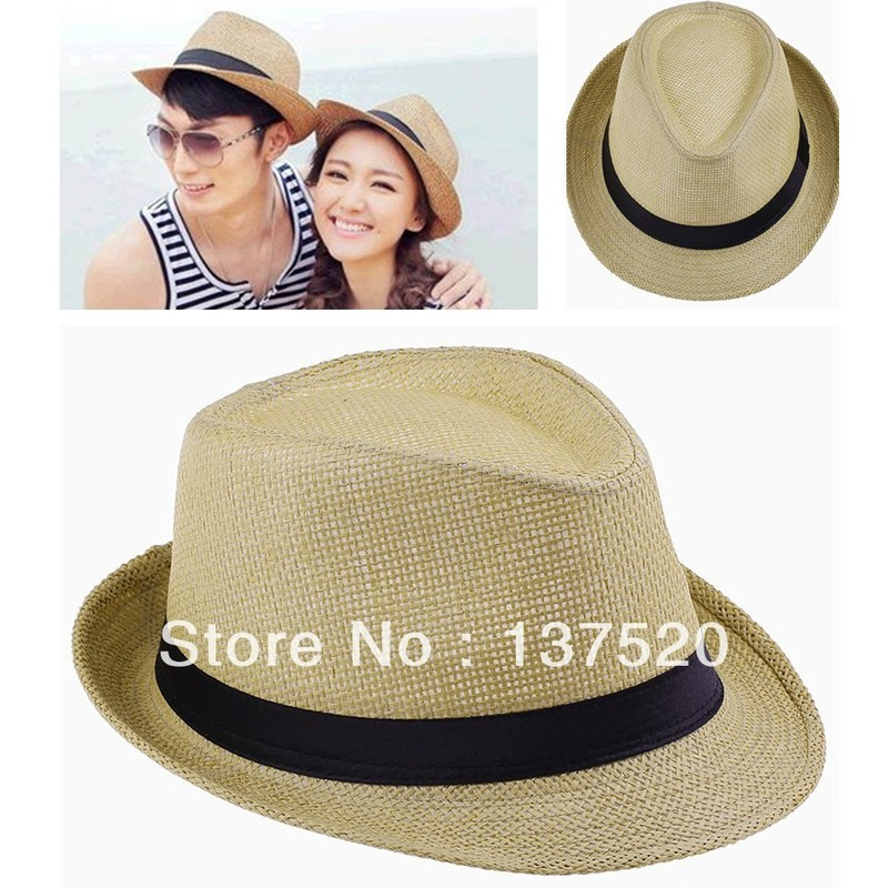Отзыв на Шляпка AliExpress Fashion Womens Mens Unisex Fedora Trilby Gangster Cap Summer Beach Sun Straw Panama Hat Couples Lovers Hat