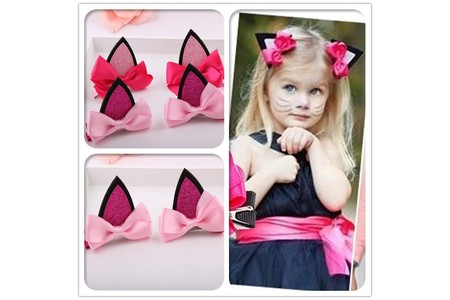 Main the new 2015 children hair accessories of the baby cat ear hair clips
