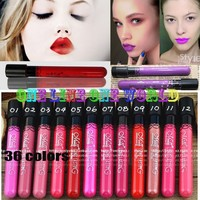 Отзыв на Губная помада Aliexpress Waterproof lipstick lip gloss 36 colors lipgloss velvet matte lipstick red color vitality cerise star