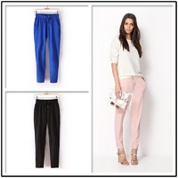 Отзыв на Брюки AliExpress 4 Colors New Womens European Fashion Spring Season Cotton Harem Pants B