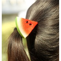 Отзыв на Резинка для волос Aliexpress Fruits Slice Hair Accessories Elastic Ponytail Holders Hair Ring Clip Scrunchies Girl Women Rubber Bands Tie Headwear NQ674217