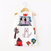 Отзыв на Платье AliExpress Promotion! girls dress 2016 new children clothing girl dress vestidos casual dress brand designer children clothing Princess summer dress