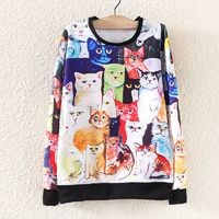 Отзыв на Свитшот AliExpress 2015 Harajuku Autumn Winter Women Hoodies Full Cartoon Animal Printed Sweatshirt Pullover Sport Suit Women's Tracksuit Casual