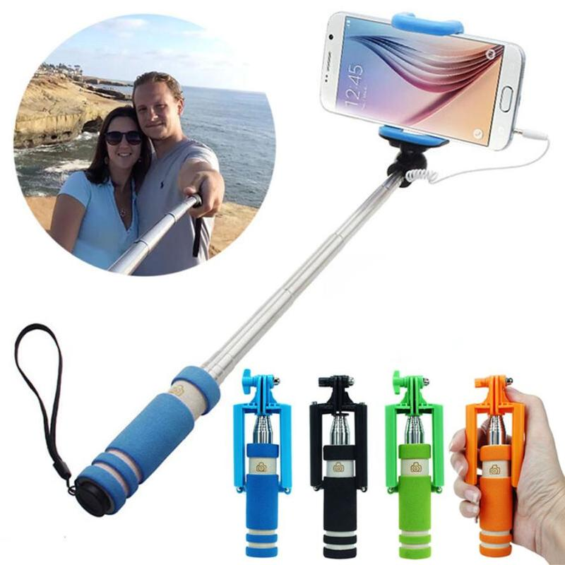 Отзыв на Монопод для селфи Aliexpress Feitong New 14-60cm Mini Extendable Sponge Handheld Fold Self-portrait Selfie Stick Holder Monopod For Smartphone Free Shipping