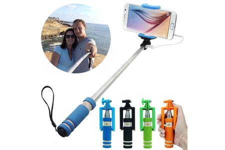 Main 2015 1pc mini extendable handheld fold self portrait stick holder monopod for mobile perfect gift