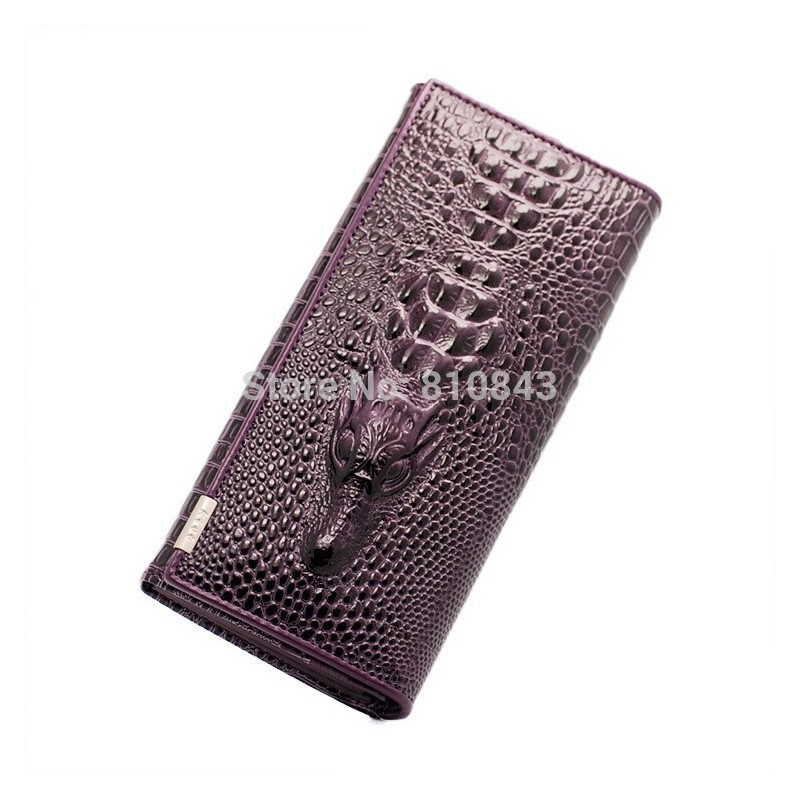 Отзыв на Женский кошелек Aliexpress 2014 New Genuine leather brand women wallets , Crocodile 3D purse wholesale fashion leather wallets , Free shipping Dropshipping