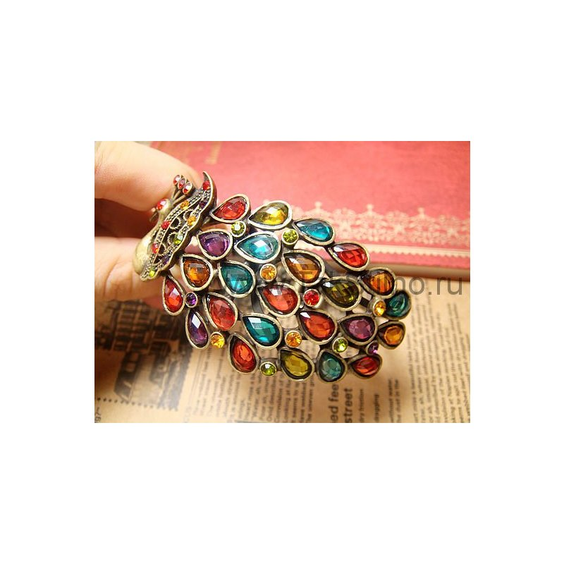 Отзыв на Браслет  Павлин Buyincoins Multi Vintage Colorful Crystal Peacock Bracelet Bangle