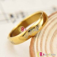 Отзыв на кольцо Всевластья Fashion Stainless Steel Ring Celtic The Lord of the Rings Gold Plated 4MM Buyincoins