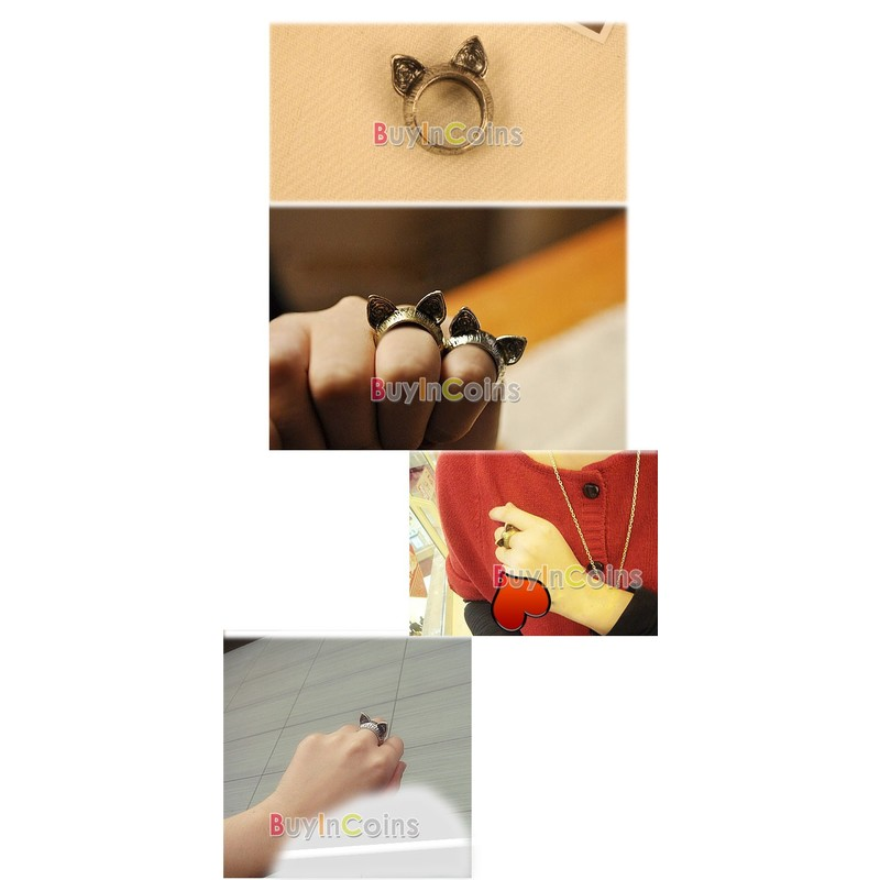 Отзыв на Fashion Exquisite Korean Charming Style Retro Cute Cat Ear Ring   Halloween Buyincoins