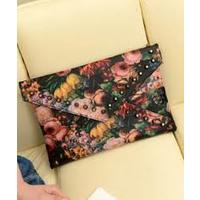 Отзыв на 2013 spring vintage oil painting rivet day clutch envelope fashion cross-body bag female bags