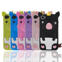 Отзыв на Чехол для мобильного телефона Aliexpress Cute 3D Soft Silicone Rubber Case Cover Pig Piggie for iphone 4 4G 4GS JS0381