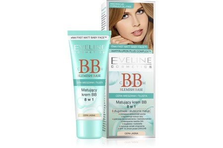 Main bb 8 w1 blemish base cream krem matujacy cera jasna 74138 big