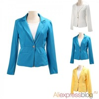 Отзыв на Пиджак AliExpress One-buckle Suit Women 6 Colors