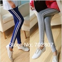 Отзыв на Леггинсы AliExpress New woman vertical stripes leggings Slim   thin stretch leggings