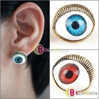 Отзыв на Серьги Buyincoins Pair Fashion Punk Rock Gothic Devil Eye Ear Cuff Clip Stud Earrings