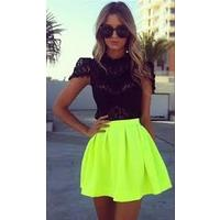 Отзывы на Юбка AliExpress Hot Sale Fashion New 2014 Neon Skirts For Women High Waist Skirt Summer Dress Mini Skirts Free Shippin